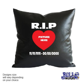 R.I.P. Personalized Pillow