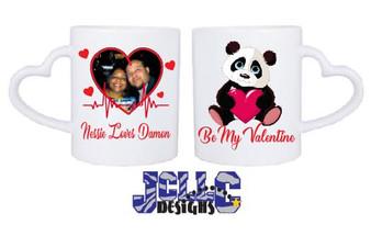 Heart Handle Valentines Day Coffee Mug