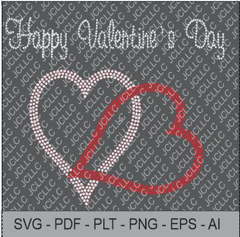 Rhinestone Template - Happy Valentines Day