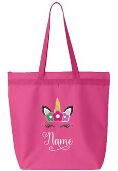 Embroidery - Girls Custom Unicorn Tote Bag 2