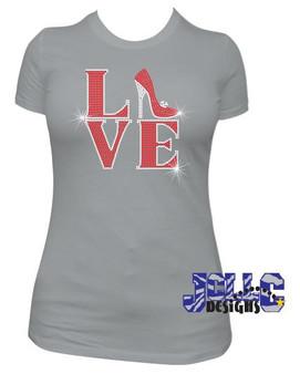 Rhinestone - Love Heels