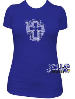 Rhinestone - Scattered Cross