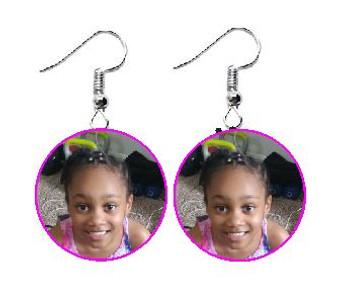 Customized Photo Earrings (Circle)
