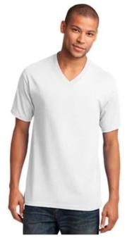 Port & Company PC54V 5.4-oz 100% Cotton V-Neck T-Shirt
