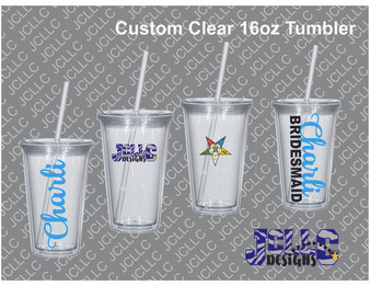 Custom Clear 16oz Tumbler