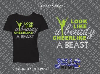 Look Like A Beauty Cheer Design