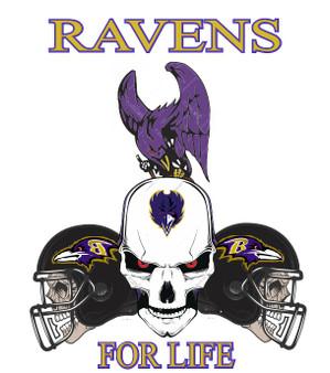 Ravens For Life Skull Design