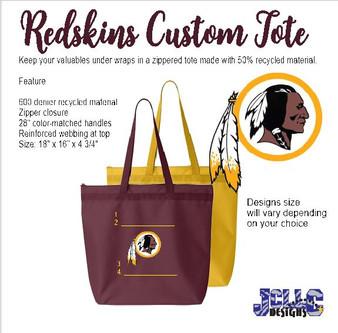 Redskins Custom Tote Bag