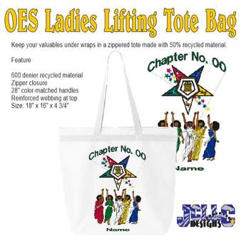 OES Ladies Lifting Custom Tote Bag