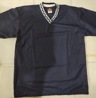 Alleson V-Neck Mesh Baseball Jerseys (L-Navy Blue)