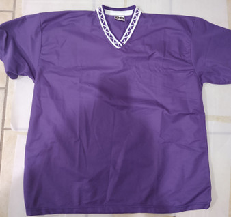 Alleson V-Neck Mesh Baseball Jerseys (2X-Purple)