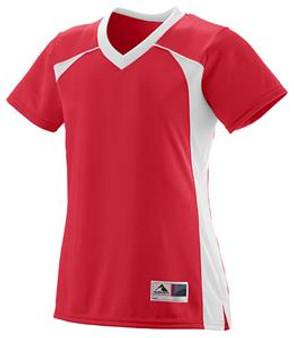 Augusta Ladies'/Girls' Victor Replica Jersey (Ladies L-Red/White)
