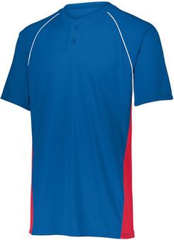 Augusta Limit 2-Button Custom Baseball Jersey (Royal/White/Orange  XL)