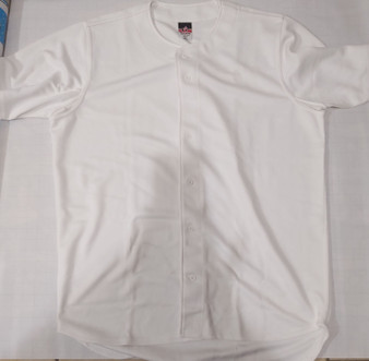 Alleson Full Button heavy Weight Baseball Jersey (White  XXL)