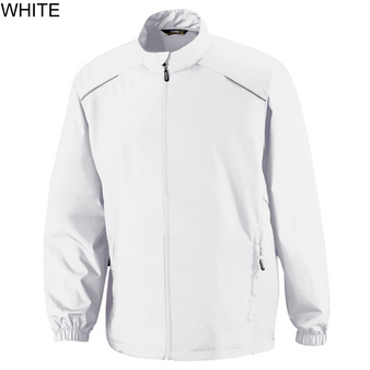 Core365 Mens Motivate Unlined Lightweight Jacket (White L)