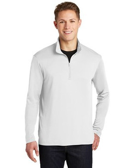 Sport-Tek ST357 PosiCharge Competitor 1/4-Zip Pullover (White 2X)