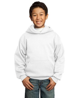 Port & Company PC90YH Youth Pullover Hoodie  (Youth White Small)