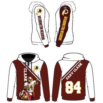 Sub - Redskins Hoodie Design 2 (Clark)