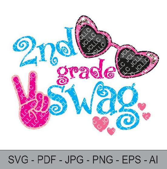 SVG - 2nd Grade Swag