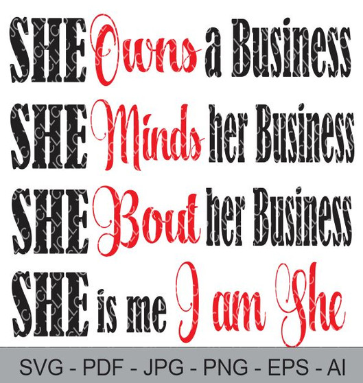 SVG - She Owns A Business