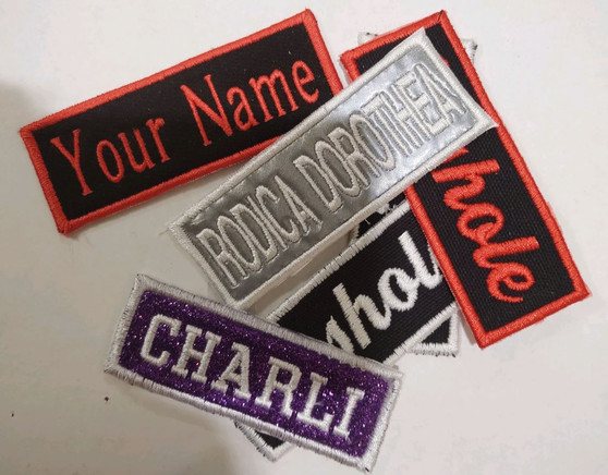 Custom Embroidery Name Tag Patches
