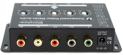 Shinybow Component 5 RCA Video with Stereo Audio Booster Extender Amplifier