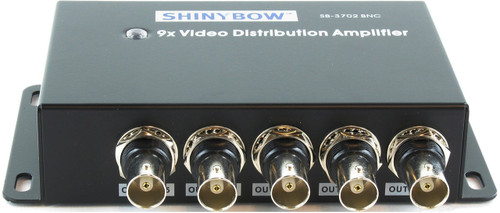 1x9 (1:9) 9-Way Composite BNC Video Splitter Distribution Amplifier SB-3702BNC