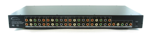 1x8 (1:8) Component 5-RCA Video + Stereo Analog Audio Splitter Amplifier SB-3737