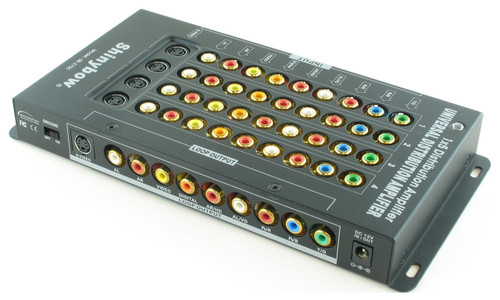 1x5 Component Composite S-Video Distribution Amplifier Splitter +Loopout SB-3750