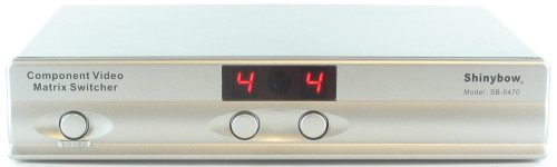 4x2 4:2 Component RCA Video Audio HD Matrix Switcher Splitter with Remote