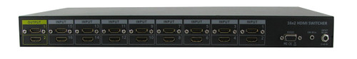 16x2 16:2 HDMI Routing Switch Switcher Splitter w/ Mirrored Outputs RS232 SB5616