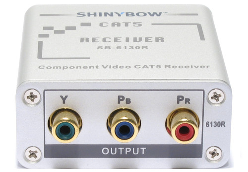 Component RCA RGB HDTV Video Extender Receiver via CAT 5/6 up to 1000ft SB-6130R