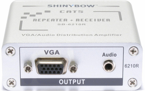VGA + PC Stereo Audio HDTV Video Extender Receiver + Repeater over CAT5 SB-6210R