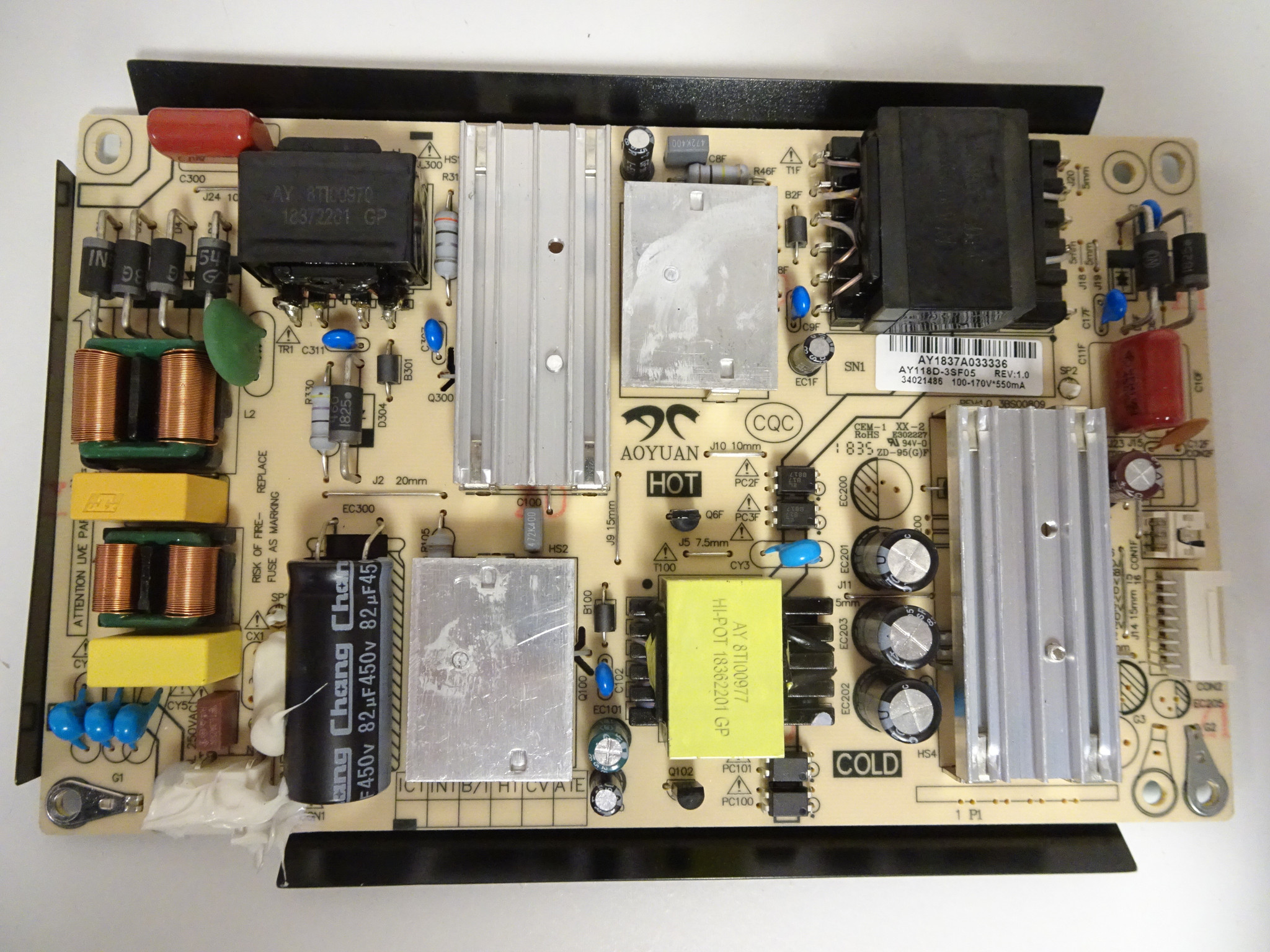 Element AY118D-3SF05 Power Supply Board for Model E4SW5518