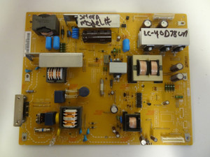 Sharp LC-40D68UT Power Supply Board (LC0919-4001AC) RDENCA393WJQZ