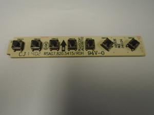 Hisense 165535 Control Button Board, RSAG7.820.5415/ROH