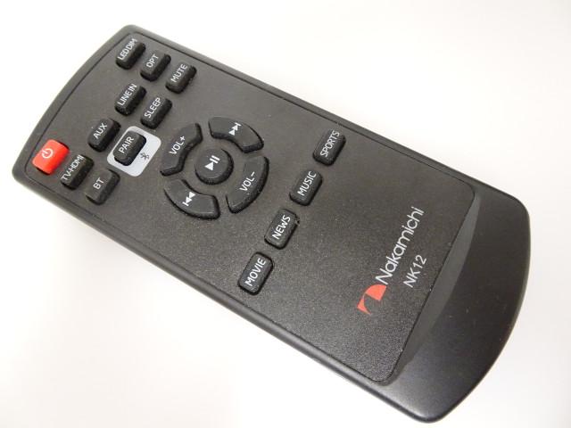 Nakamichi NK12 Remote for NK12 Soundbar - Used