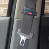 Seat Belt Tension Adjuster black in use