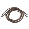 Dress Elastic Shoelace Brown Rolled