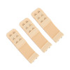 Stretch Elastic Bra Extender 3-Pack Beige 2-Hook