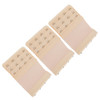 Stretch Elastic Bra Extender 3-Pack Beige 4-Hook