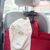 Car Hanger in Use with hat and bag