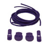 Purple Stretch Elastic Shoelaces with Tension Lock