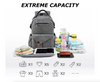 The GreaTravel Backpack Diaper Bag has extreme capacity for all of your and your baby's needs.