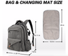 The GreaTravel Backpack Diaper Bag comes with a waterproof diaper changing pad.