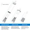 Varieties of Triumph extender styles: Adjustable, Regular, and Rigid