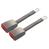 "2-Pack of Gray Rigid 8"" Car Seat Belt Extenders"