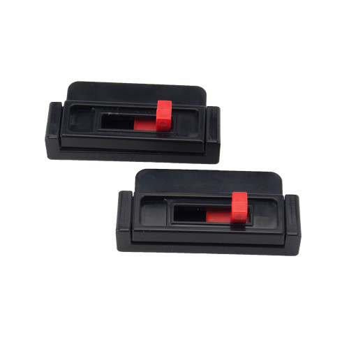 Seat Belt Tension Adjuster black (2-pack)