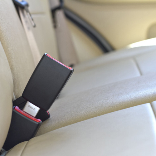 """Seat Belt Extender for 2018 Kia Stinger 2nd Row Middle Seat Rigid 3/"""" E4 Safe"""