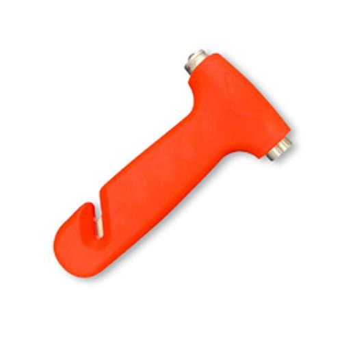 Car Safety Hammer: Window Breaker, Seat Belt Cutter (Short, Orange)
